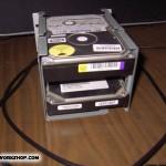 Diy hard drive rack